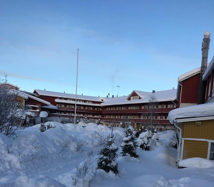 Hotel Hulu Poro, Levi, Lapland, Finland. Search for Northern Lights.