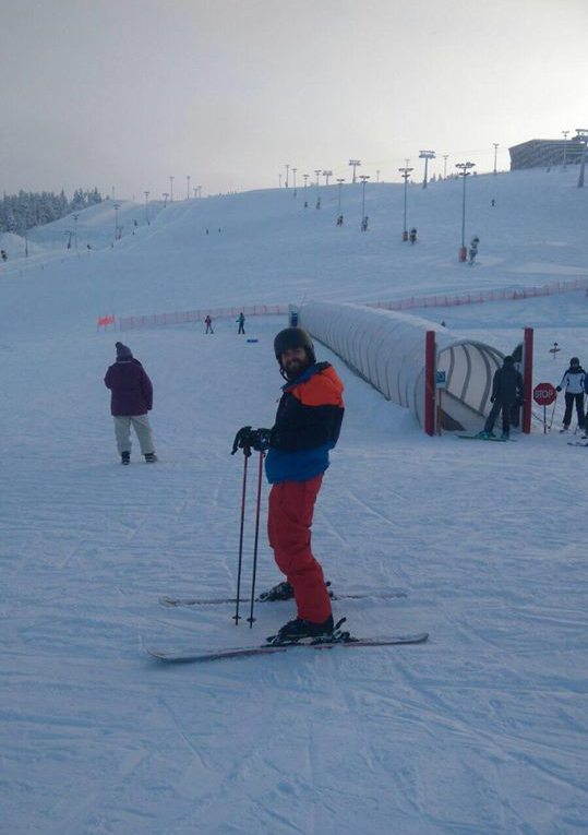 Skiing in Levi Finland